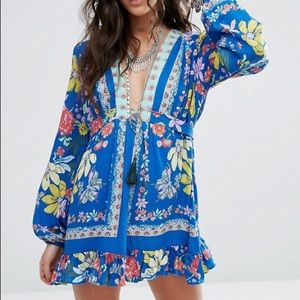 Free People Violet Hill Printed Tunic Size 10